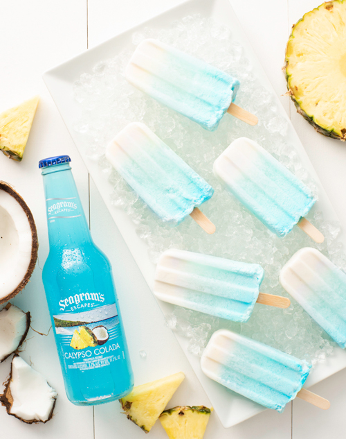 Blue Crush Ombre Ice Pops Recipe Image