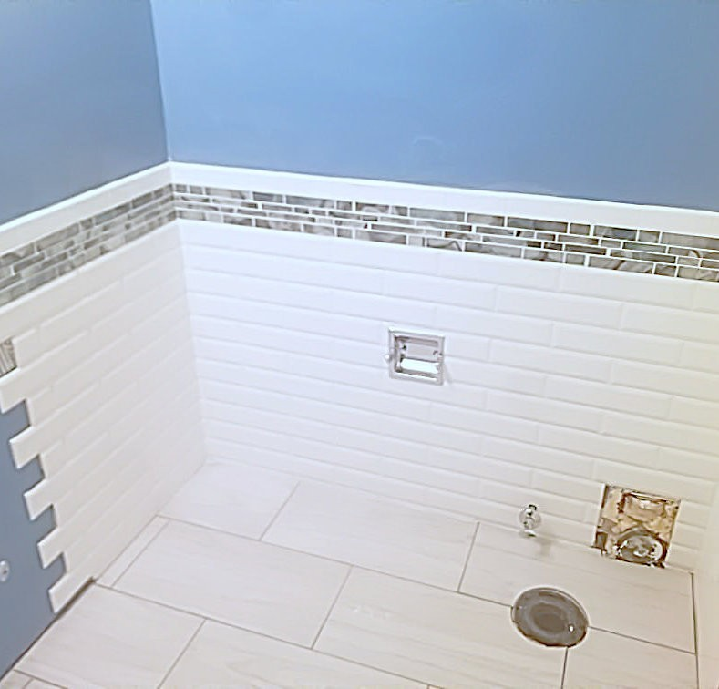 Potwin Construction shower remodel