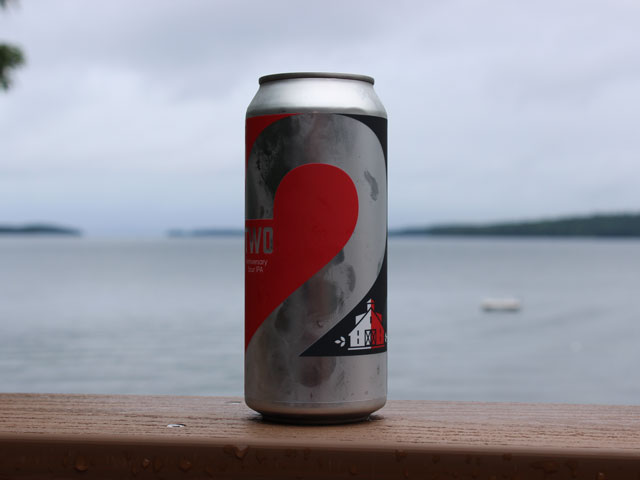 TWO, a Sour IPA brewed by Twin Barns Brewing Company for their 2nd Anniversary