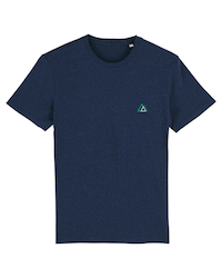 Classic T-shirt Black Heather Blue