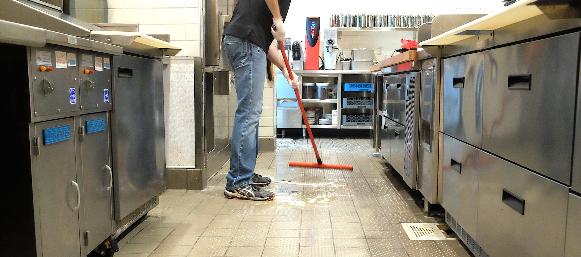 Clean Restaurant Kitchen Floor
