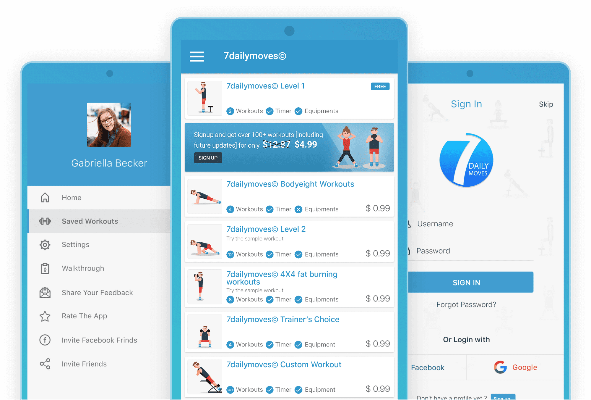 7 Daily Moves fitness app