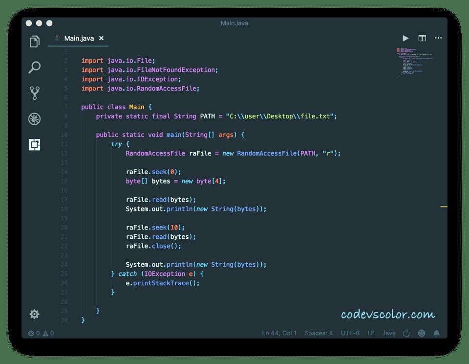 Java RandomAccessFile Example