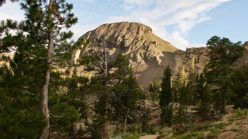 A closer view of Ebbetts Peak