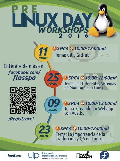 PreLinuxDay Workshops