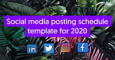 Social media posting schedule template for 2020 image