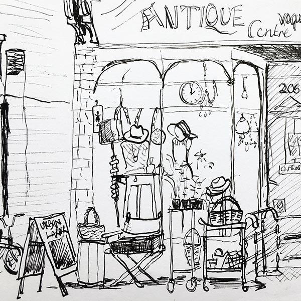 Shop front, ink pen