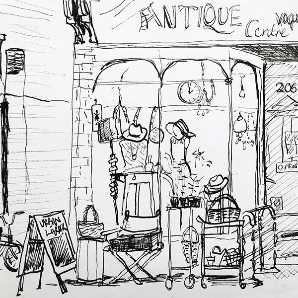 Shop front, ink pen