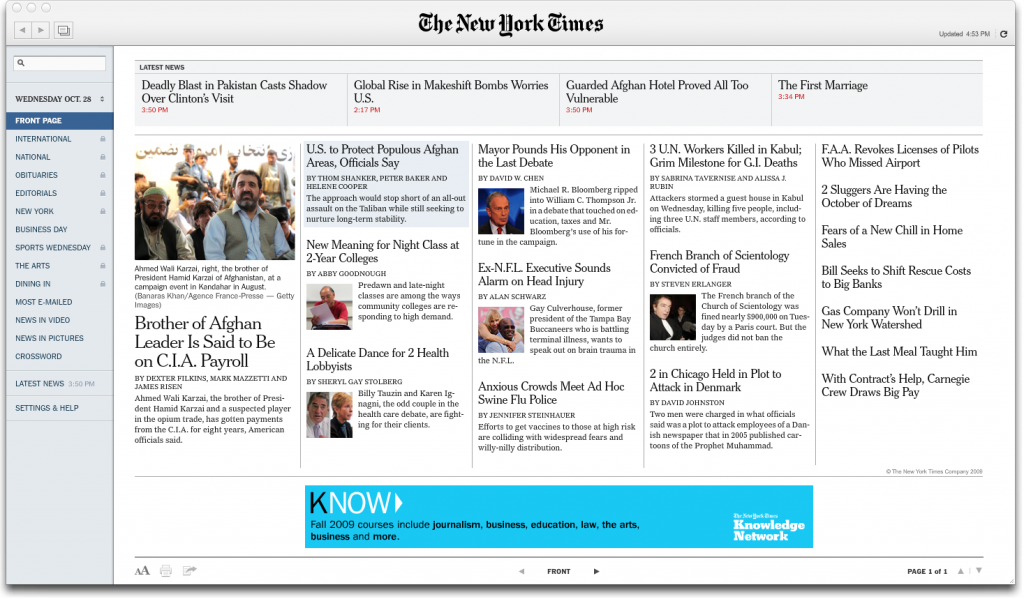 NYTimes Air App