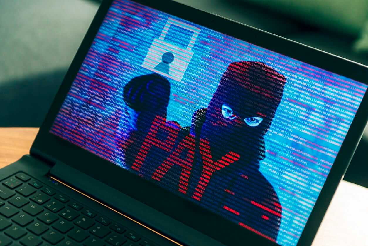 Ransomware on pc with criminal asking for money