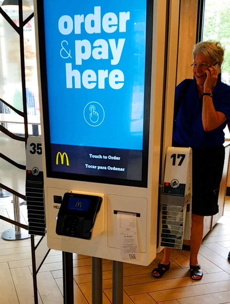 Touchscreen kiosk at McDonald's