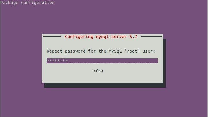 Konfirmasi root password mysql server ubuntu