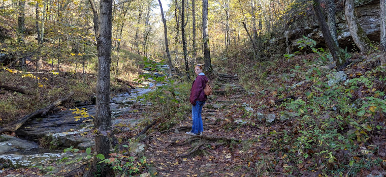 Hiking with Joy at Giant City State Park