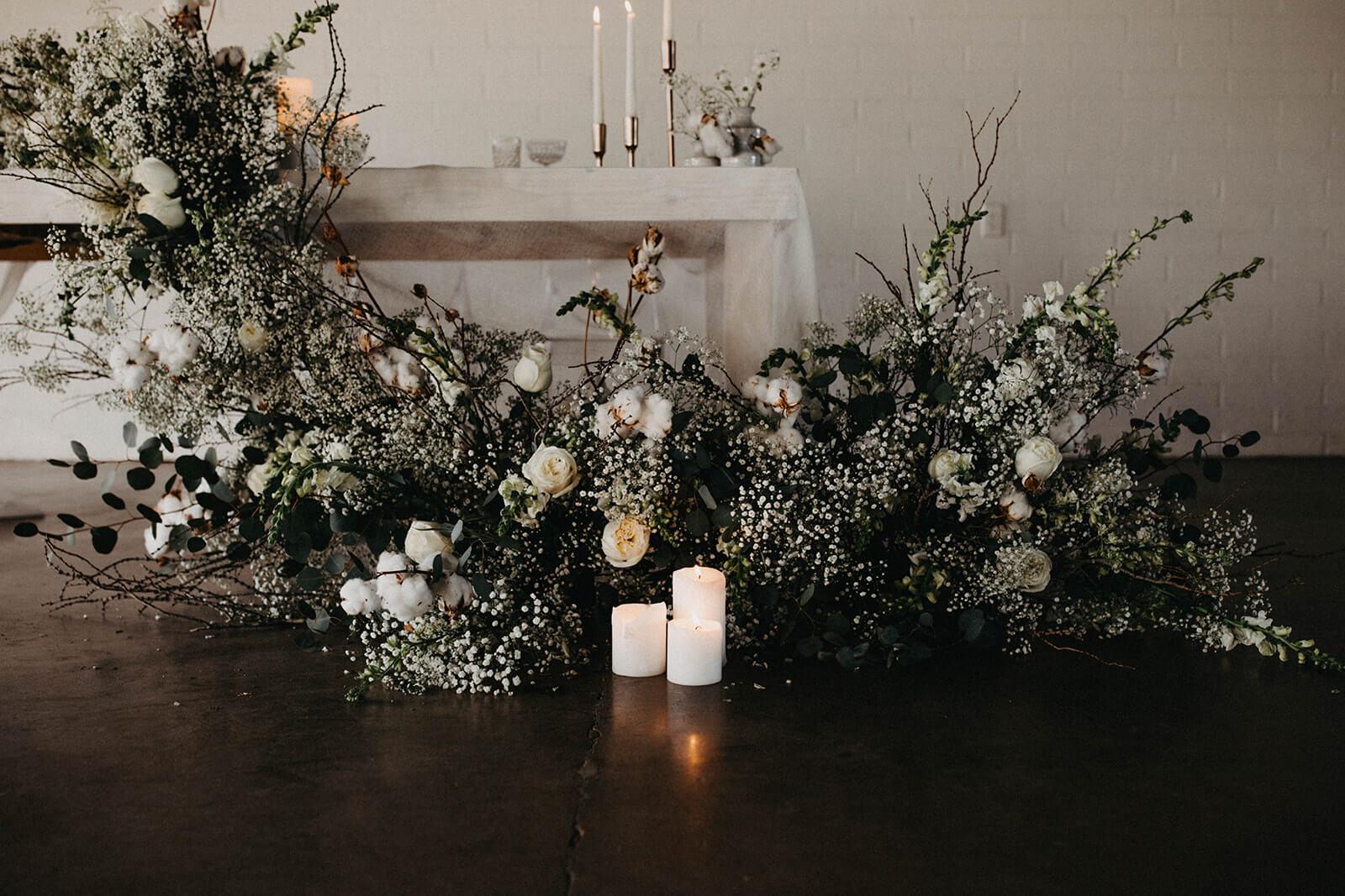 white flower arangement