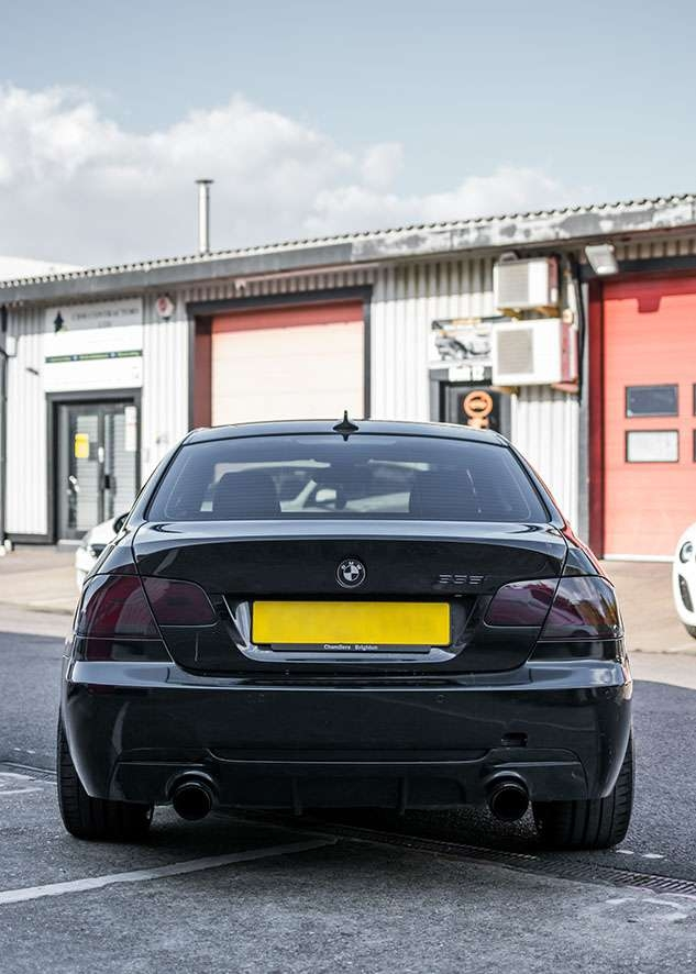 BMW 335i with tinted rear lights