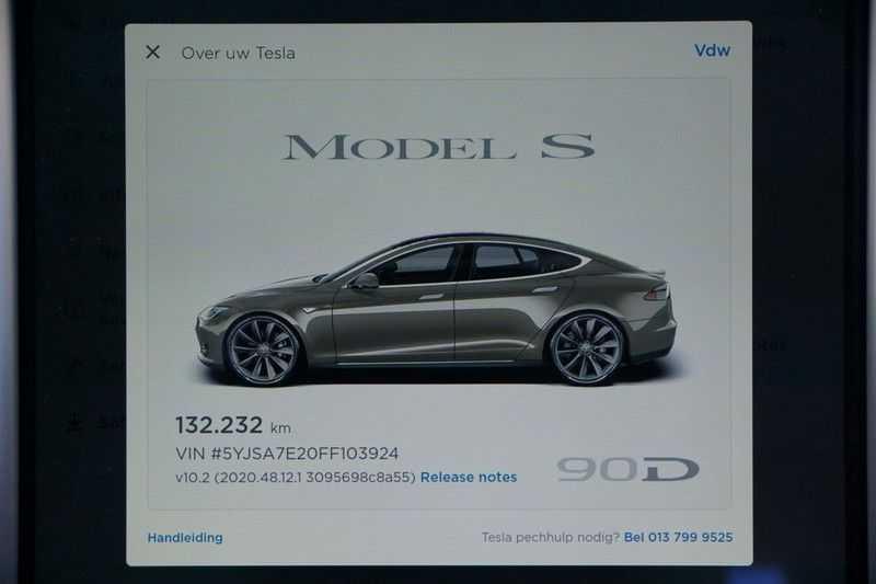 "Tesla Model S 90D Base / 422 PK / Panoramadak / Luchtvering / NL-Auto / 132dkm NAP / 21"" LMV / Leder afbeelding 21"