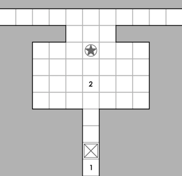 Map of the entryway and main hall of the tomb.