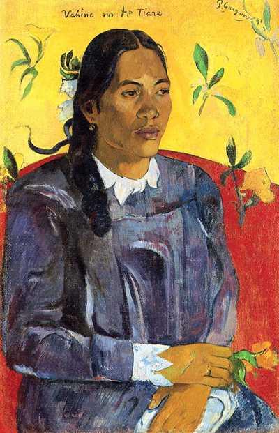 'Vahine no te tiare (Woman with a Flower)' by Gauguin in 1891, Ny Carlsberg Glyptotek