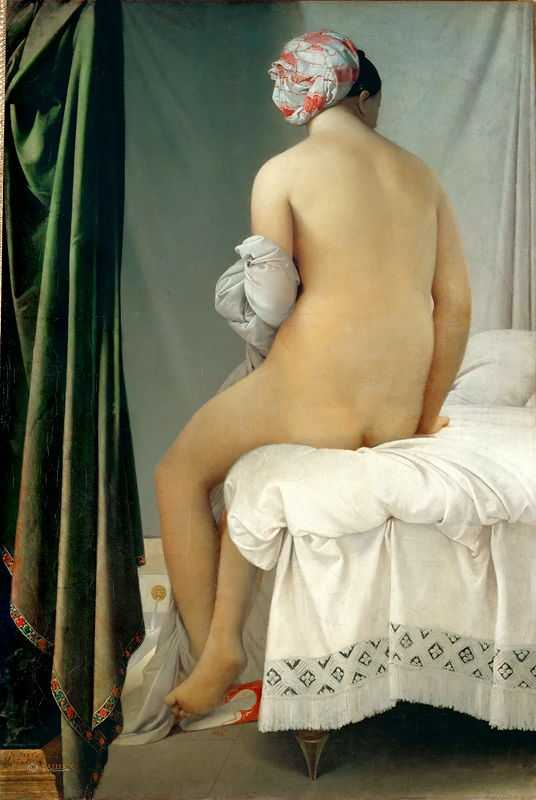 The Grande Baigneuse, also called The Valpinçon Bather (1808) by Ingres, Louvre
