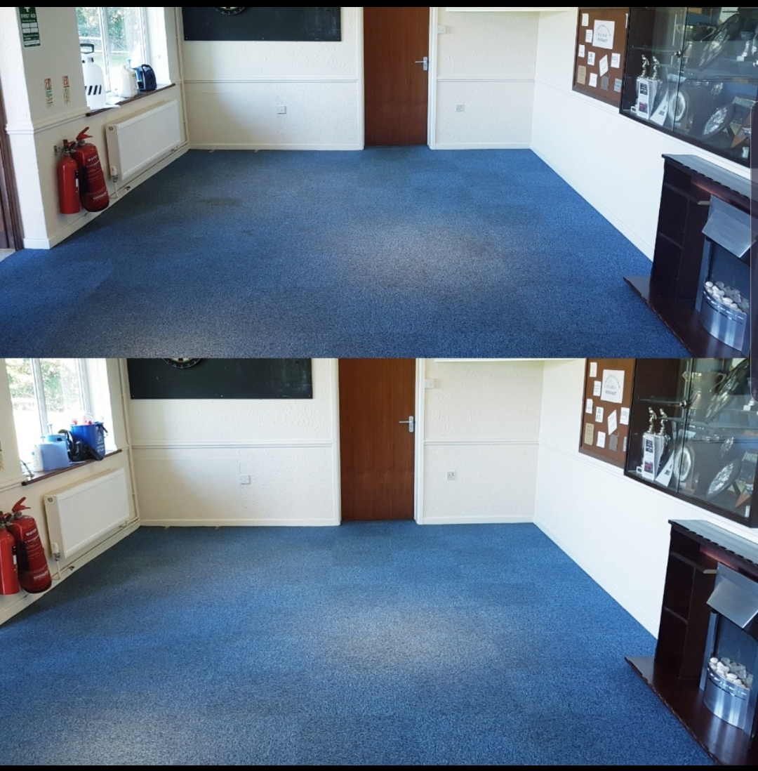 office carpet before and after