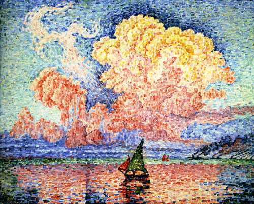 'Antibes, the Pink Cloud' by Signac in 1916, currently in private collection