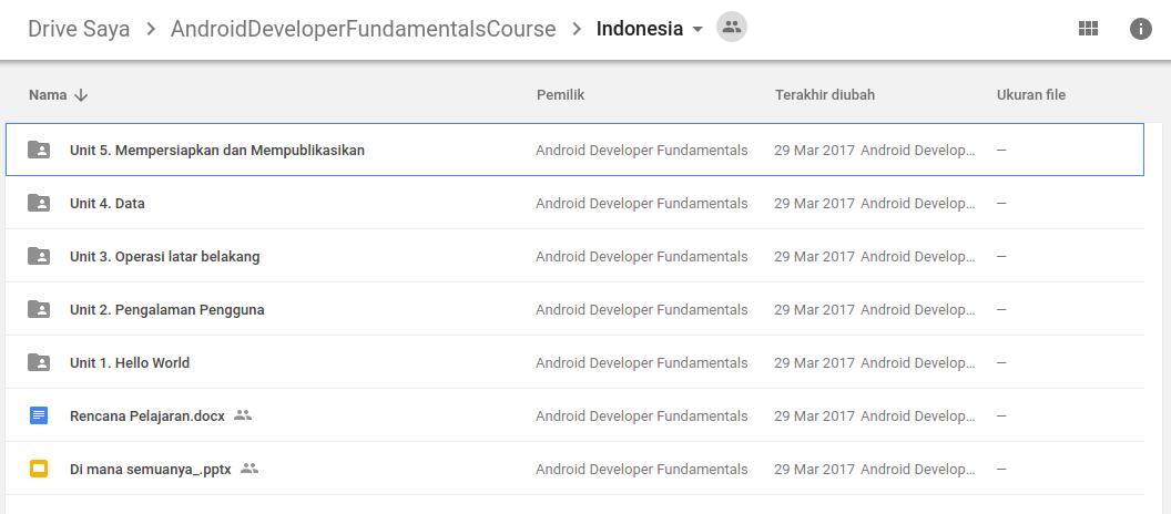Slide dan Silabus Pemrograman Android