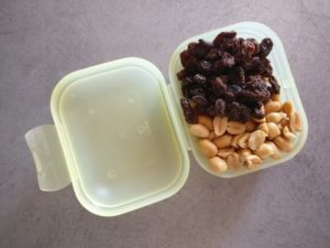 Salted Peanuts and Raisins