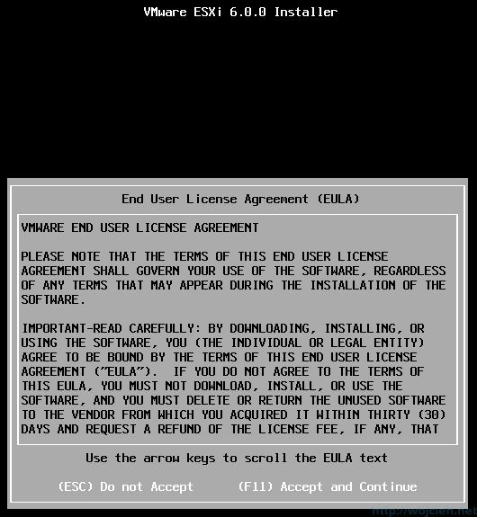 ESXi 6.0 installation - 4