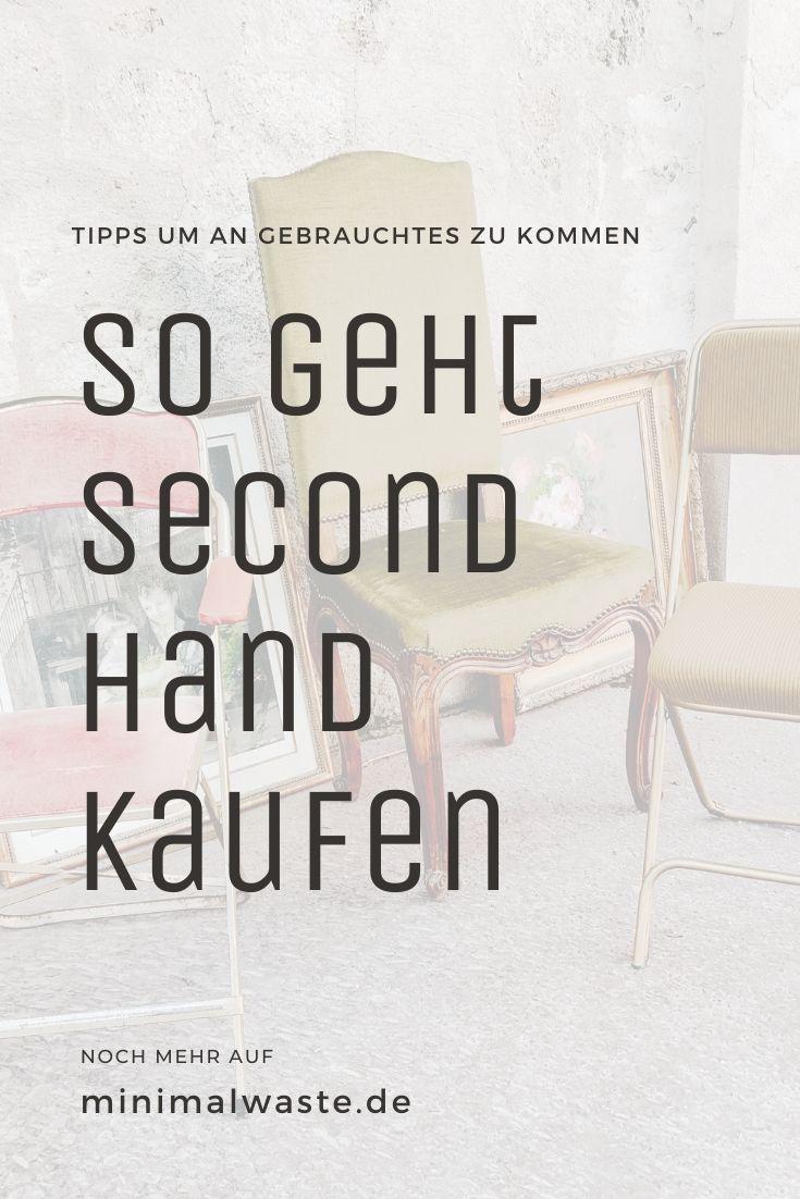 Pinterest Cover zu 'Second Hand: Tipps um an Gebrauchtes zu kommen'