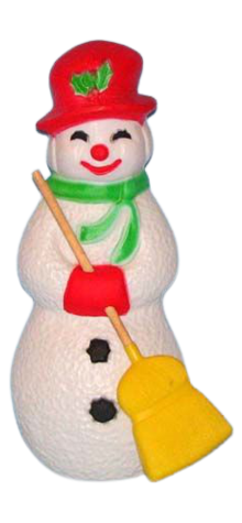 Snowman With Broom photo