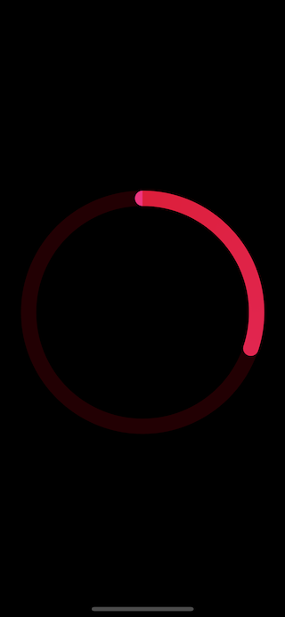 The third version of activity ring view