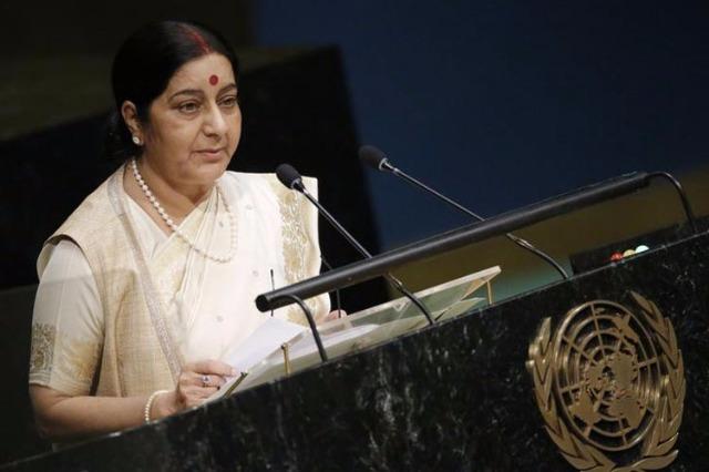 UNO में पाकिस्तान पर बरसीं सुषमा