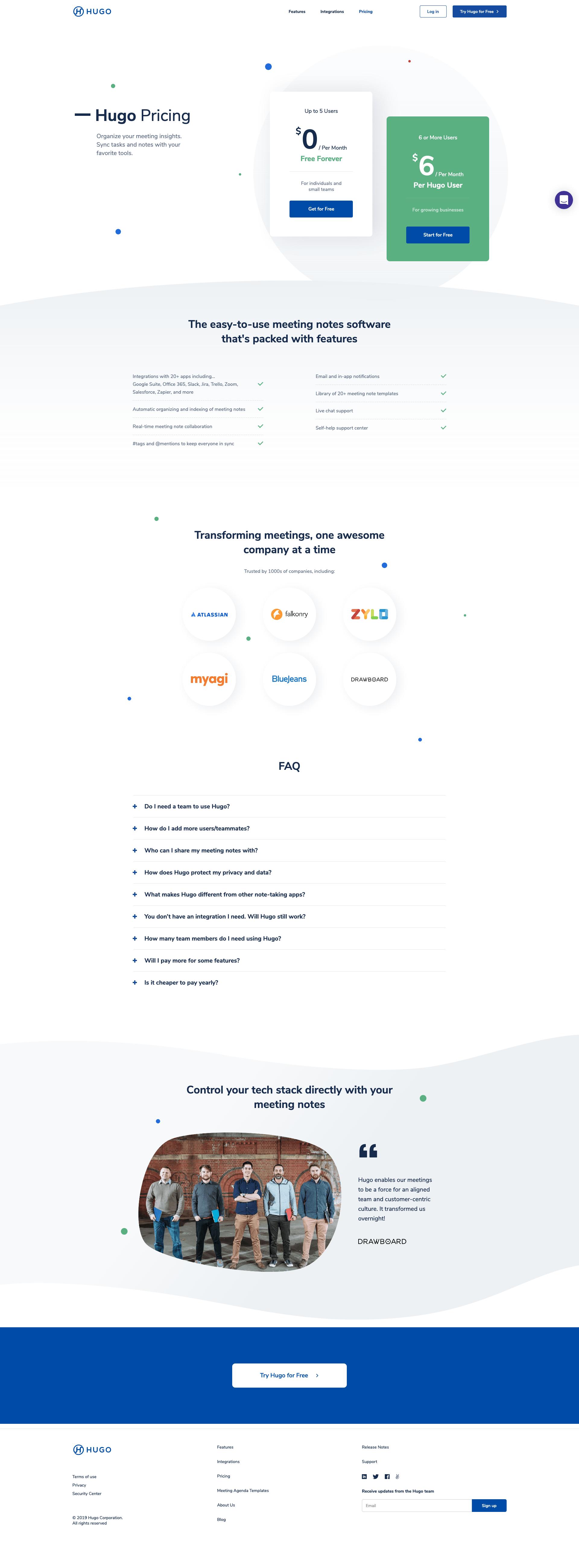Hugo.team - BestPricingPages