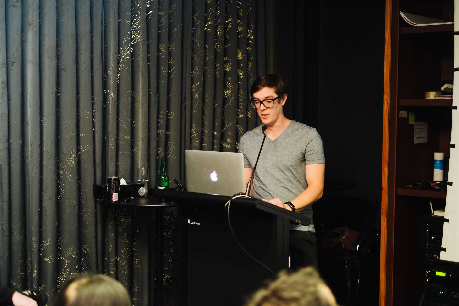 Ben Booth presenting this talk at SydCSS