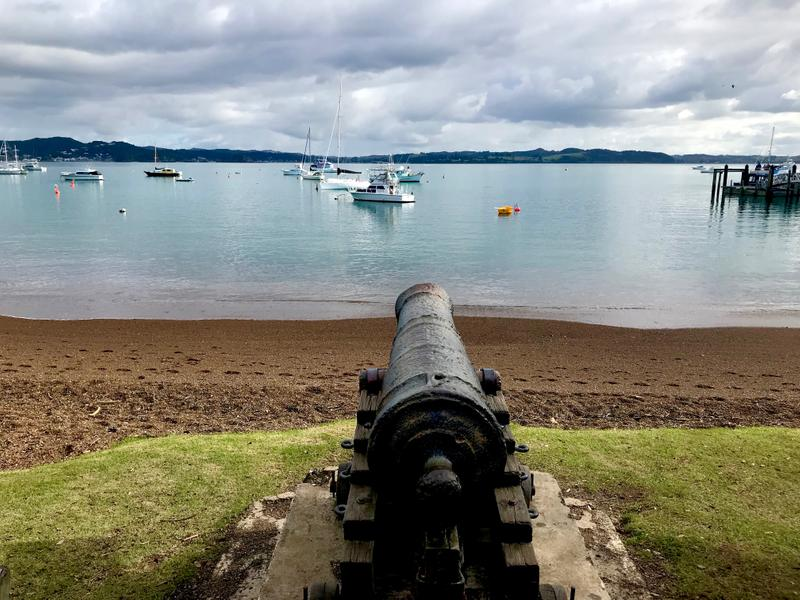 Looking out over the cannon from Russell