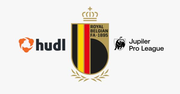 Hudl のロゴ、RBFA のロゴ、プロリーグのロゴ