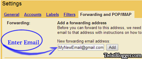 Gmail-Email-Frowarding