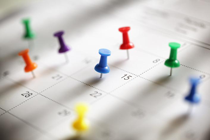 Service schedule calendar