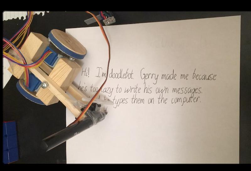 Doodlebot in action