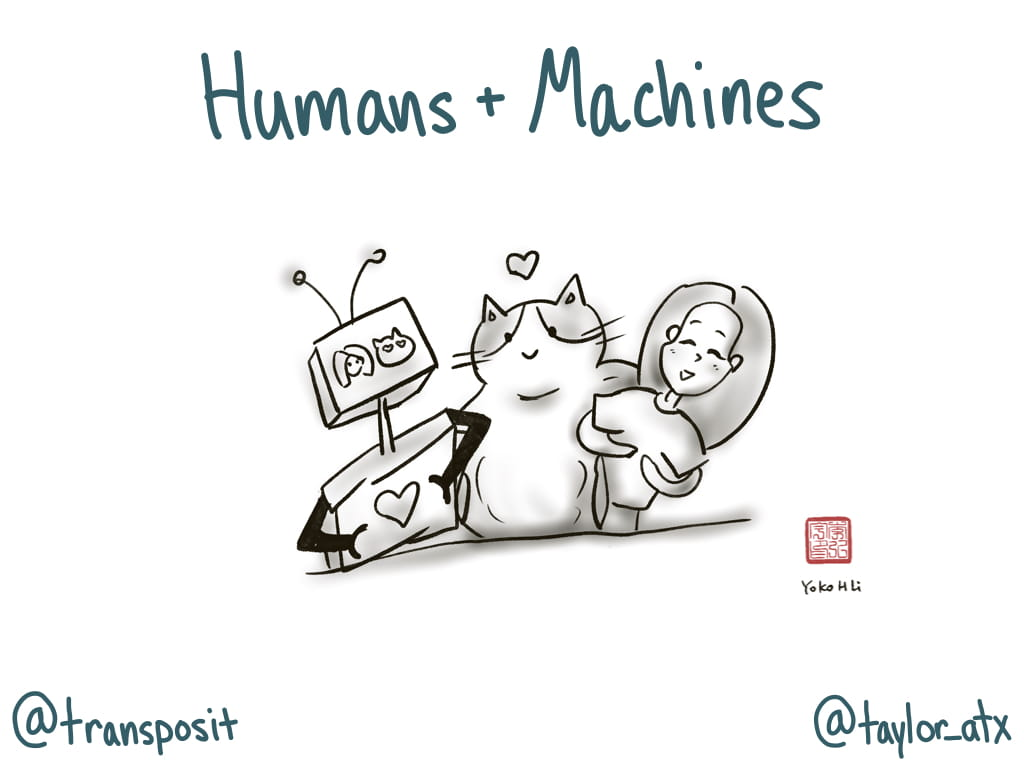 Machines, DevOps Cat, and Humans happy together