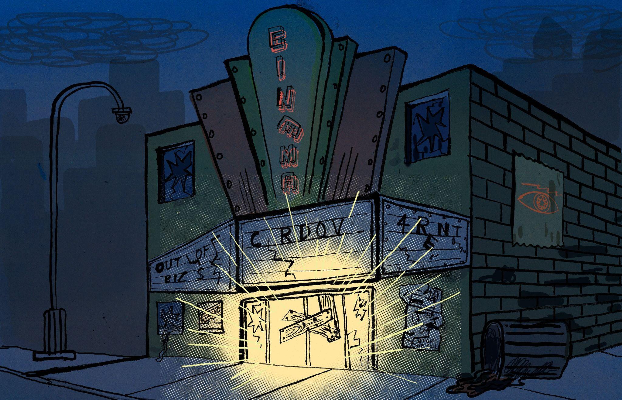 Иллюстрация к книге «Ночное кино» / Ted McGrath nytimes.com