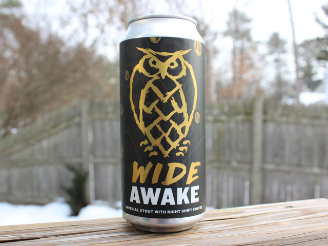 Wide Awake, a Imperial Stout with Night Shift Coffee brewed by Night Shift Brewing