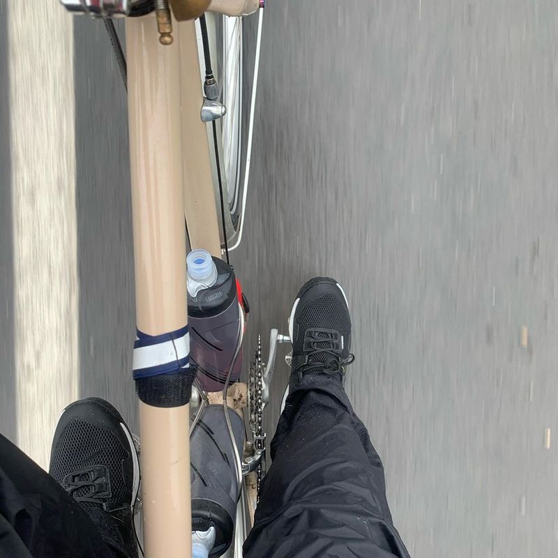 Top down view of bike