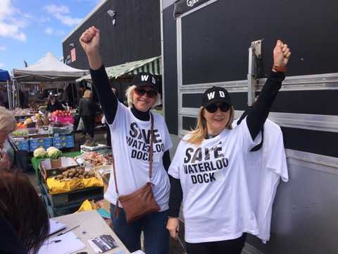 Save Waterloo Dock Campaign at Great Homer Street Market