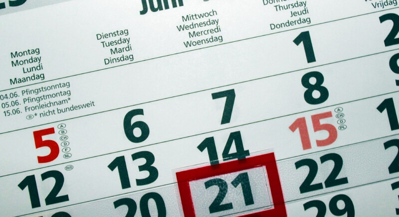 Calendar showing one date highlighted for Jest mock article