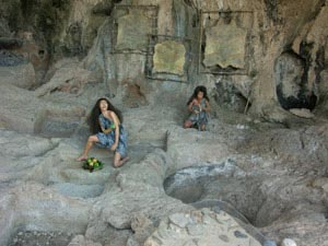 Cave of prehistoric man at Haifa in Carmel mount