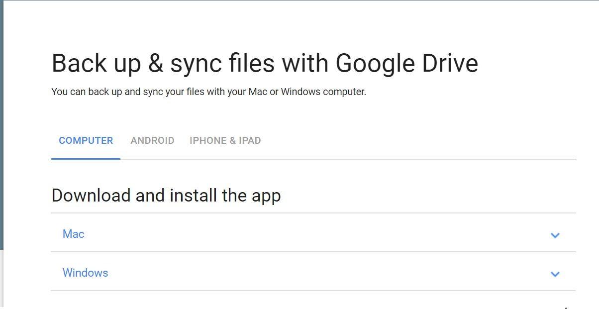 Backup and sync files