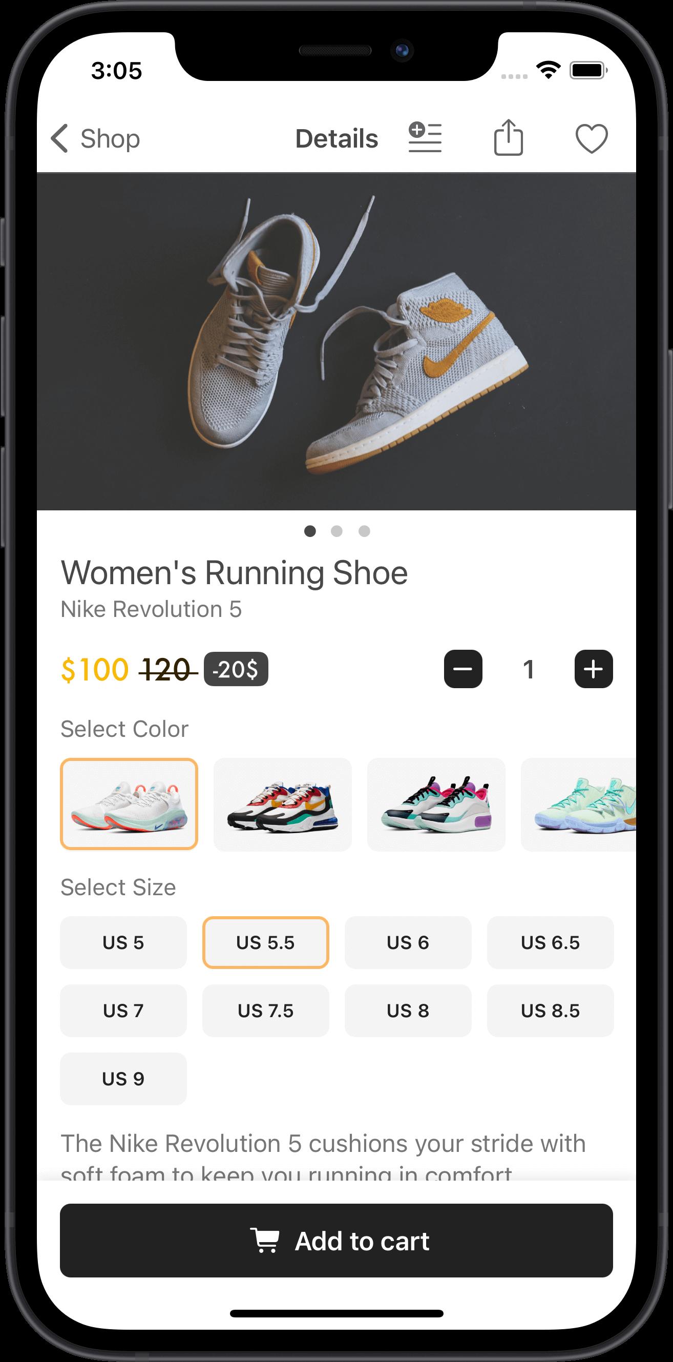 e-commerce, women, running shoes