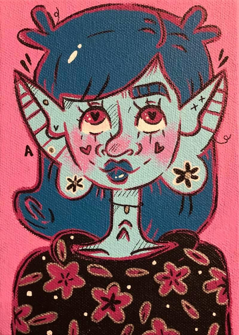 lil alien lady ♡ 5x7