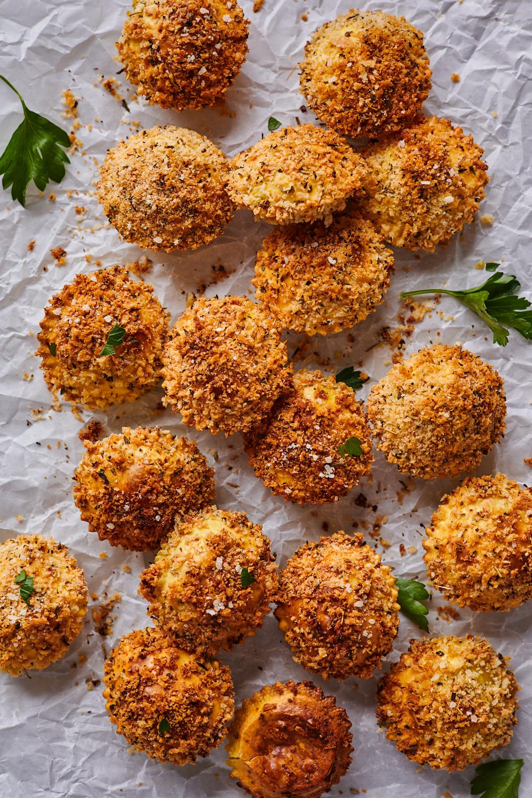 Crispy Baked Ravioli Bites